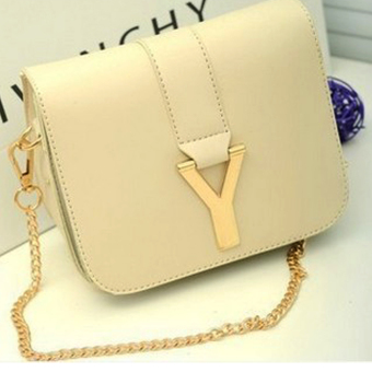 Túi đeo có khóa chữ Y sang trọng cho bạn gái thêm xinh - màu kem 103