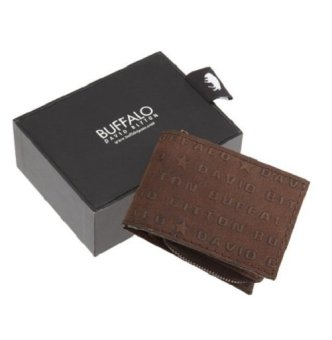 Ví nam da thật Buffalo by David Bitton Mens Dawson Creek Slim Wallet With Zip Out Coin Pocket (Mỹ)
