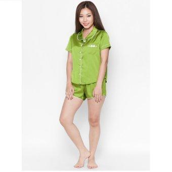 Pyjama lụa ngắn Cloud TN4 (Xanh)