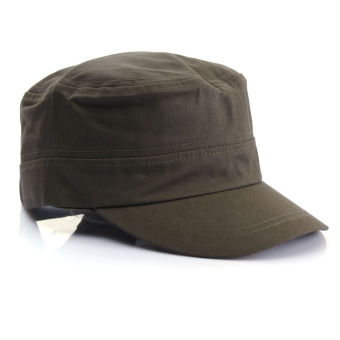 New Men Women Army Hat Cadet Military Cap Star Adjustable Outdoor Vintage Nylon Army Green - Intl - Intl