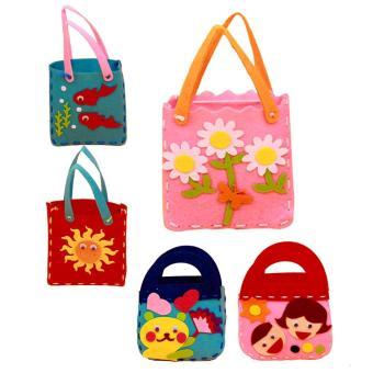 Handmade Handbags Non-woven Cloth kids Crafts Cartoon Toys Creative gifts - intl