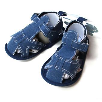 Giày vải đế mềm cho bé Luvable Friends Prison Break 12-18 tháng (Xanh dương)