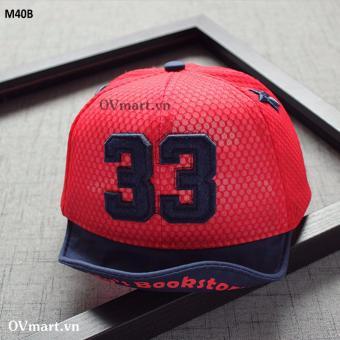 Phụ Kiện Cho Bé - Mũ Đỏ Đen Số 33 - M40B