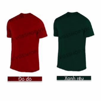 Bộ 2 áo thun LAKA A1119 (Đỏ đô + Xanh rêu)