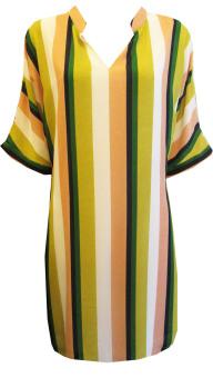 Đầm Suông Cổ Trụ - D-321 Color Stripes (Sọc màu)