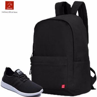 Combo Balo Cylinder Laptop BLL002BA + Giày Sneaker GS068BA (Đen) - CB021