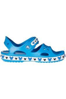 Giày xăng đan bé trai Crocs Crocband II Mickey Sandal K Ocean 202692-456 (Xanh)