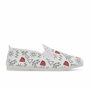 Giày Lười Flossy Parcent (Trắng Họa Tiết Dưa Hấu)