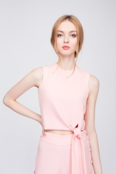 Áo Candeblanc Knotted Croptop Rose Quartz - S16T060
