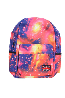 LALANG Galaxy Pattern Backpack (Pink)