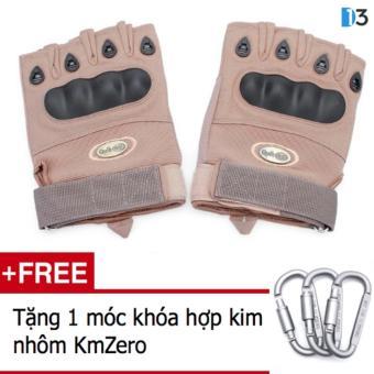 Găng tay nửa ngón QuickCell Biker - Màu vàng + Tặng 1 móc khóa hợp kim nhôm KmZero