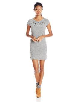 Áo đầm len Đen nữ cổ đính hạt U.S. Polo Assn. Juniors Jewel Neckline Sweater Dress (Mỹ)