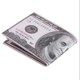 Ví da in hình tiền 100 USD