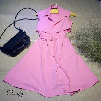 Đầm suông Xavia Clothes Cloudy (hồng)