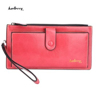 Baellerry Wrist Wallet Clutch Card Holder(Watermelon Red) - intl