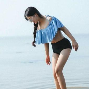 Bộ bikini 2 mảnh phối vạt bèo cực xinh (SIZE M)