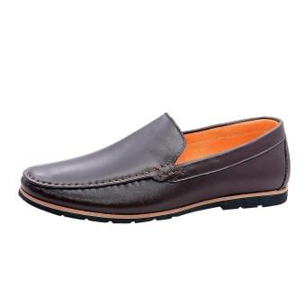 Giày nam da bò thật cao cấp Nâu ESM10