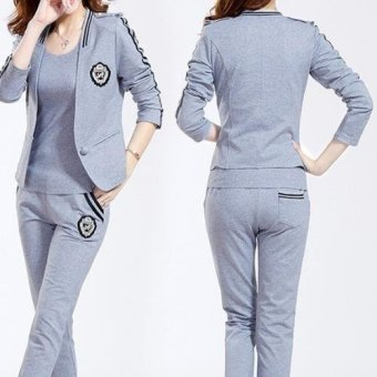 Bộ áo quần thể thao nữ (Xám)