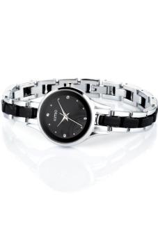 Đồng hồ nữ dây kim loại Kimio 450 (Trắng phối đen)