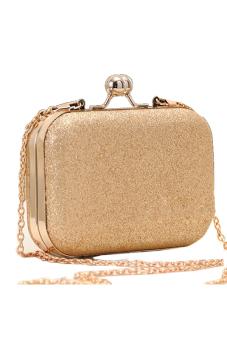 Sunweb Elegant Mini Party Bag Clutch Women's Shinning Bag Purse Wallet Golden - Intl
