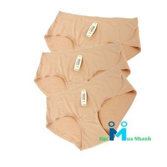 Bộ 3 quần lót su Ice Silk- M02 (da)