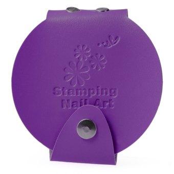 Card Organizer Package Nail Design Printing Plate Template (Purple) - intl