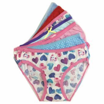 Bộ 7 quần lót - quần chíp bé gái cotton Thái Lan-MS04