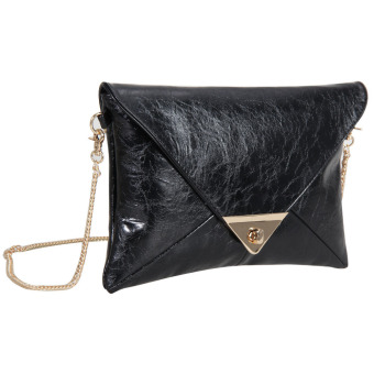 2016new fashion women message bags with chain(black) (Intl)