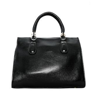 Túi xách nữ da bò thật cao cấp màu đen ETM480 ELMI da thật