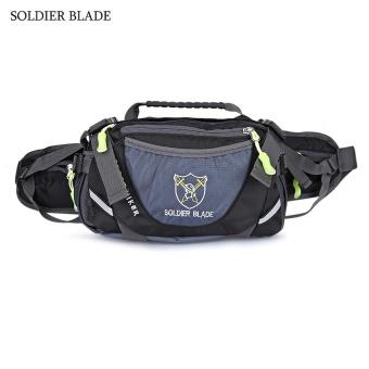 SOLDIER BLADE Multifunction Unisex Outdoor Travel Bottle Storage Waist Bag Shoulder Bags(Black) - intl