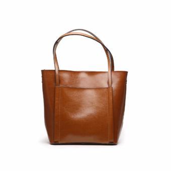 Túi xách nữ da thật cao cấp phong cách châu Âu QSL064 (Nâu vàng) - 3592656