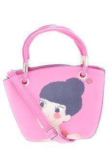 Túi đeo chéo nạm đinh xinh xắn Vinadeal A12 (Hồng)