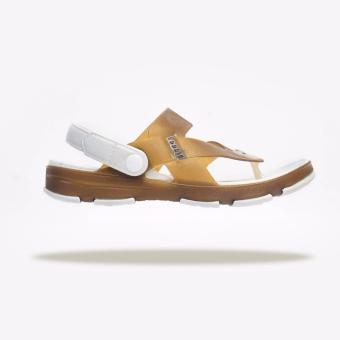 Giày Sandal Nam Leedo Strap 106 (Khaki Trắng)