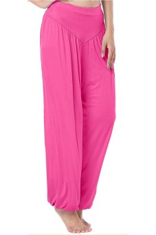 LALANG Loose Pants Hot Pink - Intl