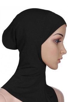 Bluelans Muslim Full Cover Inner Hijab Cap Islamic Underscarf Neck Head Bonnet Hat Black