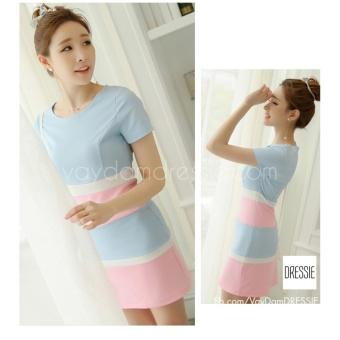 Váy Đầm Body Xinh Xắn Dễ Thương Dạo Phố Hẹn Hò Dự Tiệc DRESSIE - DB0136 (Xanh Hồng)