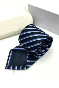 Cà vạt lụa thời trang bản vừa Victoria90 VT6009-6 (Xanh)