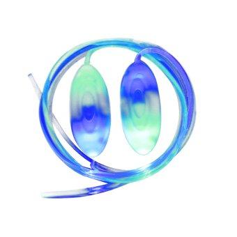 Magical Flashing LED Light Up Shoelace Lighting Glow Stick Strap Night Running Golf Skate Shoestring Blue+ Green