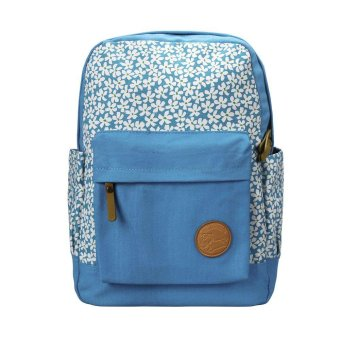 Women Canvas Travel Satchel Shoulder Bag Backpack School Rucksack (Light Blue) - Intl