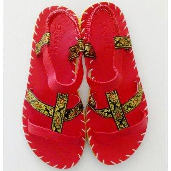Sandal thổ cẩm nữ (Đỏ) TFW8531 #37