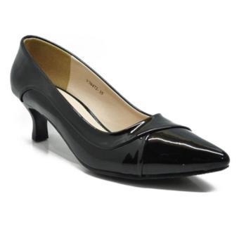 Giày da gót cao 3p Hải Nancy 70472D