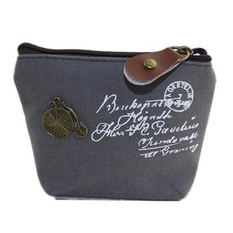 Bluelans Women Coin Bag Purse Wallet Card Case Classic Handbag (Grey) - intl