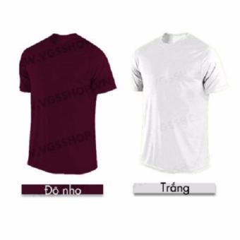 Bộ 2 áo thun LAKA A1214 (Trắng + Đô nho)