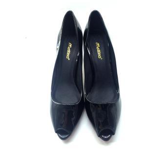 Giày cao gót hở mũi Mattino (Đen)