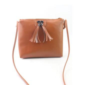 Women Fashion Tassel Mini Handbag Shoulder Bag BW - intl