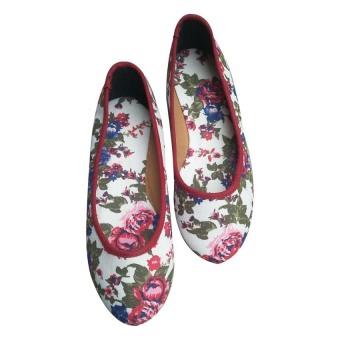 Giày búp bê hoa Dolly&Polly DL168 (Đỏ)