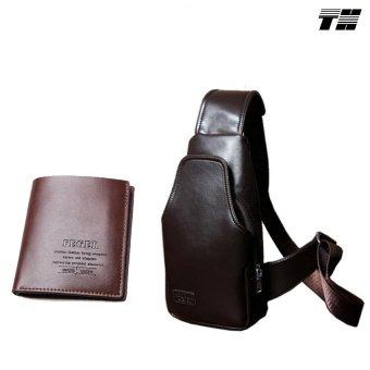 Bộ ví da và túi đeo chéo phong cách THCB24