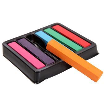 6 PCS 6 Colors Temporary Disposable Hair Dye Pastel Hair Color Chalk Salon Kit - intl