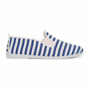 Giày Lười Flossy Italica (Trắng Sọc Xanh)