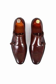 Giày tây Double Monkstrap Alessandro Luigi LG96-92 (Nâu đậm)
